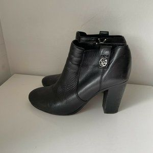 Coach Tavi Low Boots Black Leather 7.5 Booties